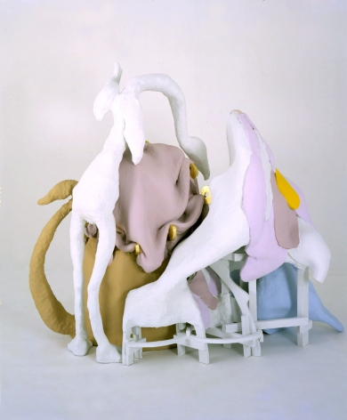 Peaceable Kingdom, 2001, Wood, wire, foam, plaster, resin, gold leaf and enamel paint