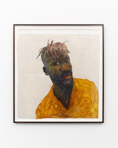 Amoako Boafo, Self Portrait, 2017, Oil on canvas