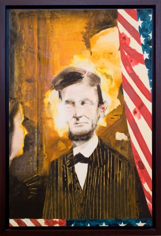 Assassination (Abraham Lincoln), 2007, Ink and urethane on linen