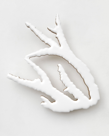 white coral fragment sculpture