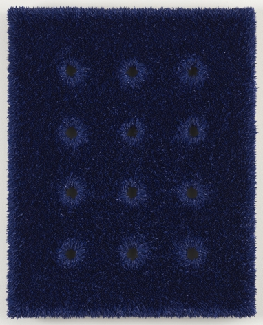 panel of blue linen by donald moffett