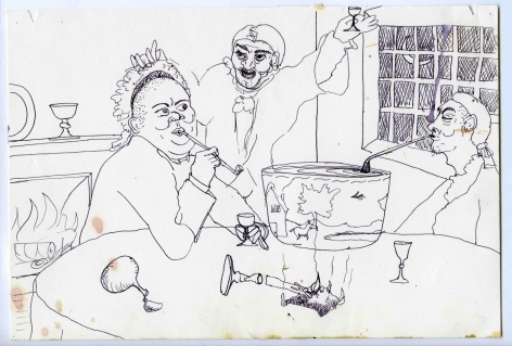 Wassail Suite, 1996, Ink on paper