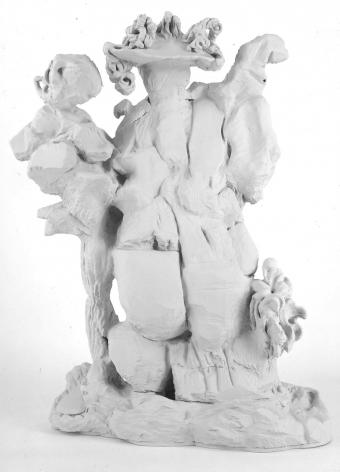 amorphous white foam figures by rachel feinstein