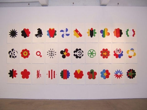 Polly Apfelbaum, 	Flags for Revolt and Defiance, 2005