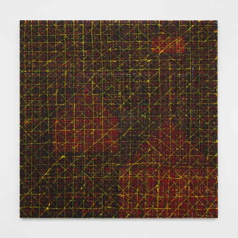 Houses: Thin Lines, 1998, Oil on canvas