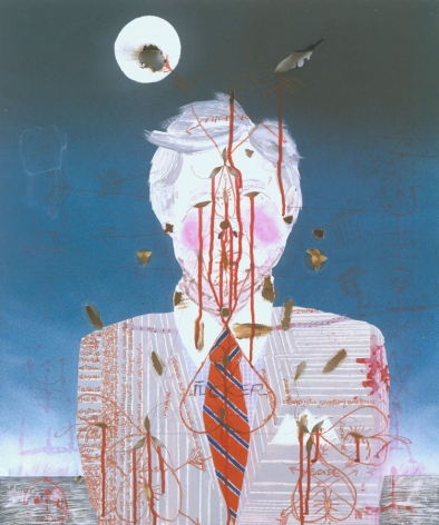 portrait of a man in a stripped tie by barnaby furnas
