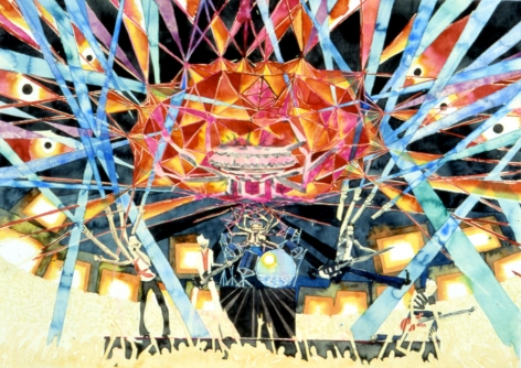 Rock Concert (Big Star), 2003, Watercolor on paper