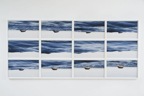 a series or a grid of photographs of a seascape by thiago rocha pitta
