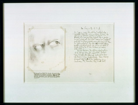 Mr. Gay in the U.S.A. #1, 2001, Graphite on paper, linen tape