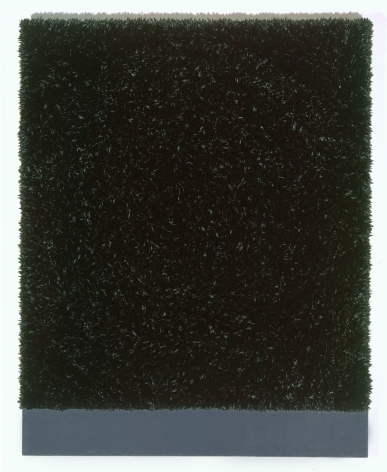 black square piece by donald moffett
