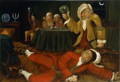 A Midnight Modern Conversation (An Altercation), 1996, Oil on linen