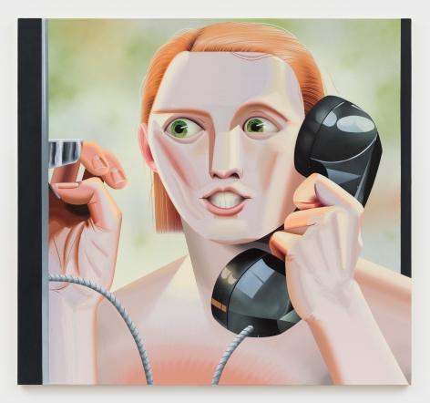 Robin F. Williams, Siri Calls for Help, 2018, 54 x 58 inches 137.2 x 147.3 cm