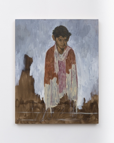 Salman Toor, Immigration Portrait, 2019, Oil on panel