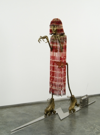 Venice Witch, 2003, Bronze, stainless steel and Venetian beads