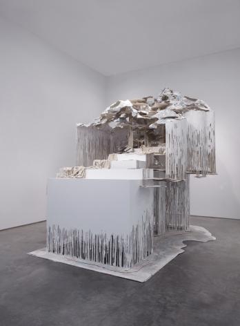At the Vanishing Point, 2012, steel, polymer gypsum, fiberglass, wood, foam, aluminum foil, paint