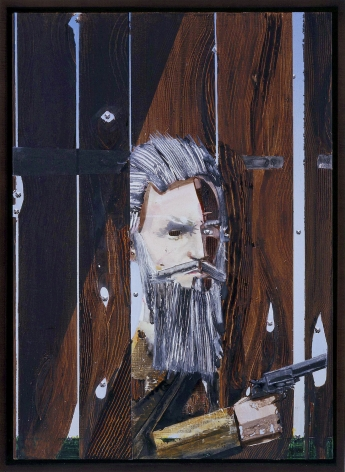 a figural work of art of urethane on vellum of john brown surrending by barnaby furnas