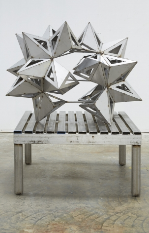 a stainless steel split star by frank stella available to buy