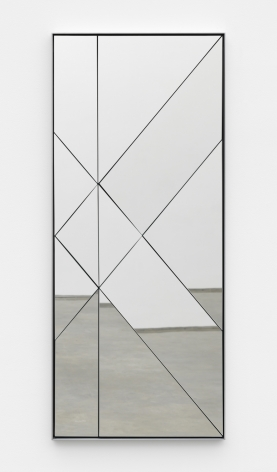 Untitled, 2017 Mirror-polished stainless steel on MDF