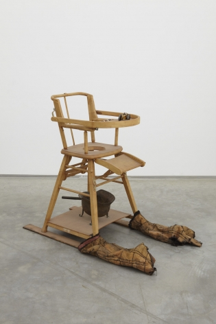 a sculpture made by italian arte povera artist salvatore scarpitta