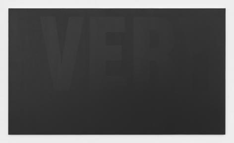 Very, 2017 Valspar Very Black Paint 5011-2 on canvas
