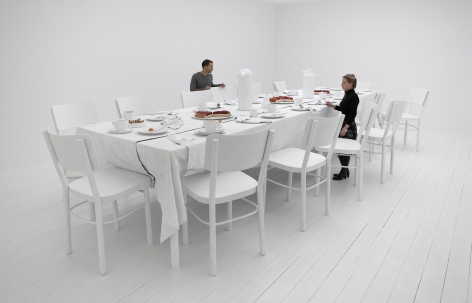 Table (1), 2006, Sculptural installation, mixed media