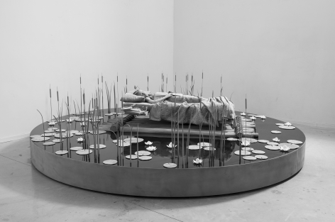 My bed a raft; Hans Op de Beeck