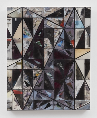 a geometric abstract artwork by Matthias Bitzer for sale in Chelsea New York