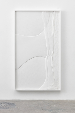 a white painting of plaster by contemporary artist anthony pearson