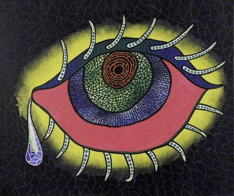 Yayoi Kusama, Teardrop, 1989, Acrylic on canvas