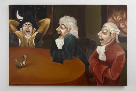 A Midnight Modern Conversation (Boredom), 1996, Oil on linen