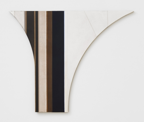 A shaped canvas by Svenja Deininger on display in New York City