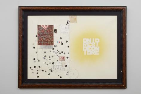 Senza titolo (ordine e disordine), 1980, Mixed media and collage on paper