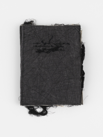 black book, an embroidered fabric book, by textile artist maria lai