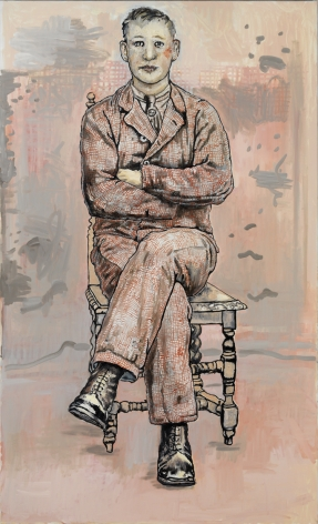 portrait of a seated man with crossed arms