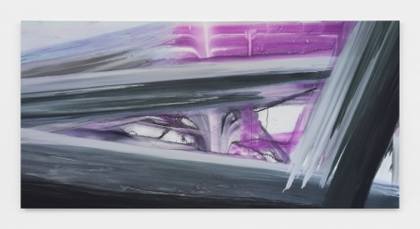 Barnaby Furnas flood painting in purple and silver