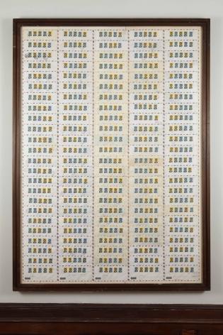 Permutazione 120 buste dall'Etiopia, 1975, Mixed media on paper;