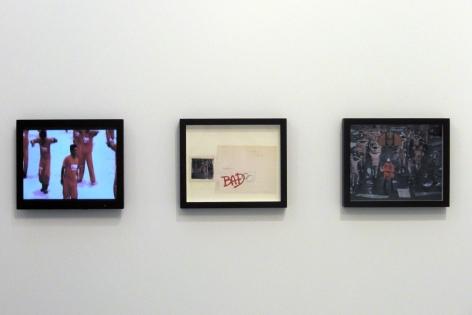 A Thriller is a Thriller is a Thriller, 2007-2008, C-print, collage, LCD panel