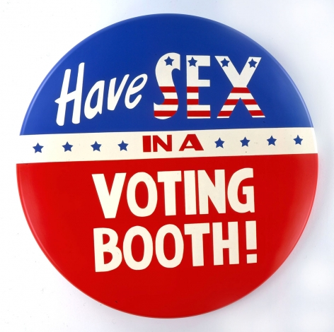 Have Sex in a Voting Booth button by John Waters