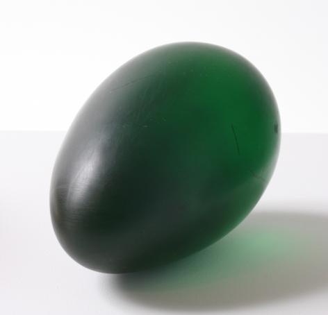 green translucent oval sculpture by natsuyuki nakanishi
