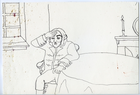 Wassail Suite #7, 1996, Ink on paper
