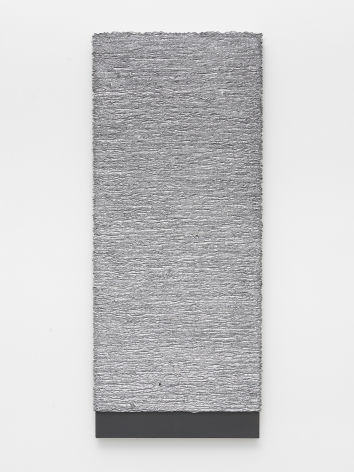 a grey artwork by donald moffett available for sale at a nyc gallery