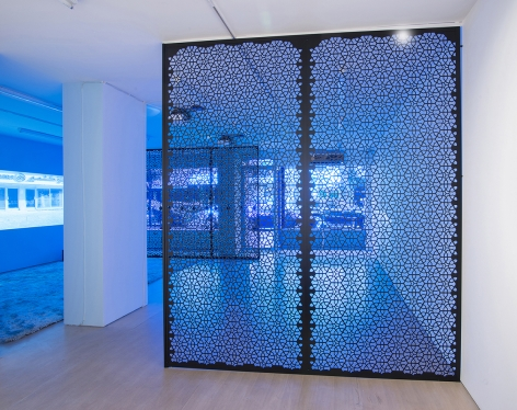 Installation View, The Blue Lenses, Boesky East, 2015