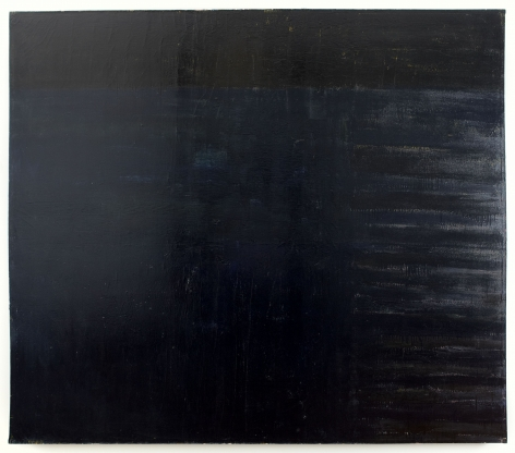 black painting by frank stella