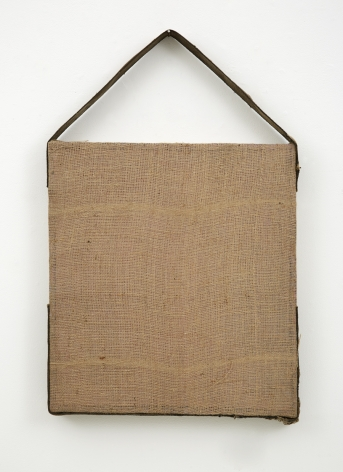 a burlap, cotton and wood contemporary artwork by jay heikes exhibited in a nyc gallery