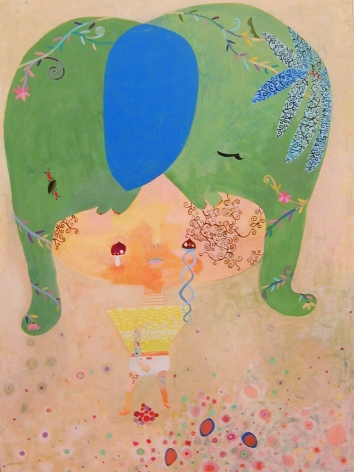 scene with child and elephant by chinatsu ban