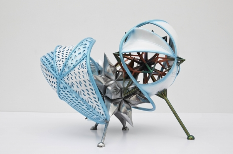 a small maquette or model by frank stella for sale at marianne boesky gallery