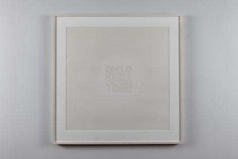 Ordine e Disordine, 1971, Spray paint print