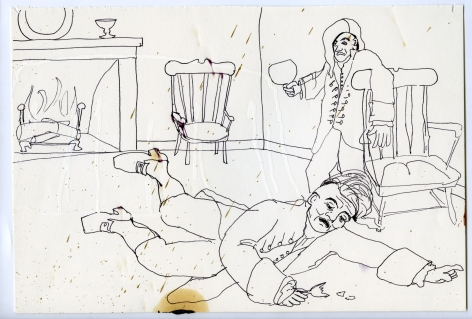 Wassail Suite #5, 1996, Ink on paper