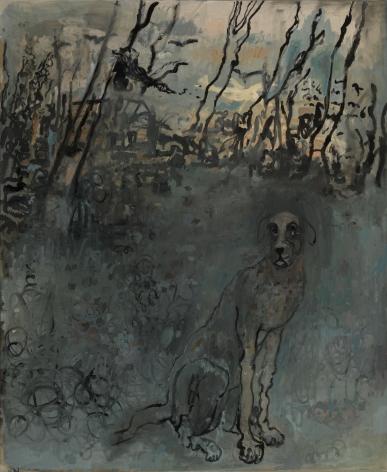 Hannah van Bart dog painting