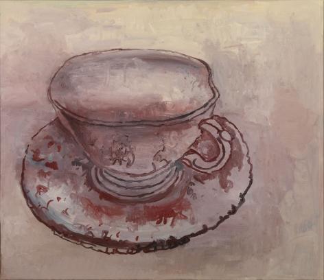 Hannah van Bart teacup painting